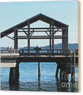 Covered Pier At Port Townsend Wood Print