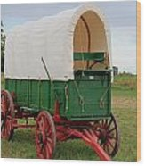Covered Wagon Wood Print