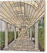 Covered Walkway Wood Print
