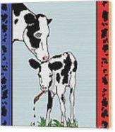 Cow Artist Cow Art II Wood Print