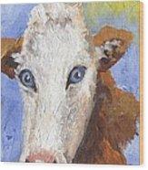 Cow Fantasy Three Wood Print