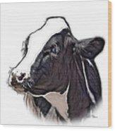 Cow Holstein - 0034 Fs Wood Print