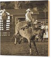Cowboy 2 Wood Print