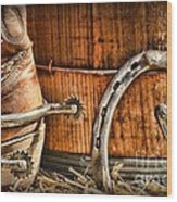 Cowboy Boots And Spurs Wood Print by Paul Ward