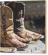 Cowboy Boots Wood Print