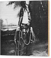 Cowboy, C1880 Wood Print