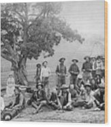 Cowboy Camp, C1890 Wood Print