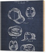 Cowboy Cap Patent - Navy Blue Wood Print