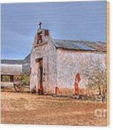 Cowboy Church Wood Print by Tap On Photo