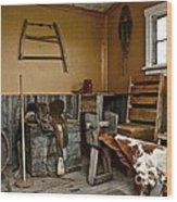 Cowboy Corner Wood Print