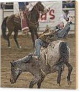 Cowboy Hang On Wood Print