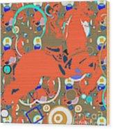 Cowboy Kaleidoscope Wood Print