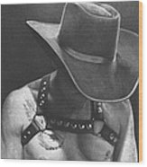 Cowboy Pilot Wood Print