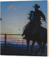 Cowboy Pirouette Wood Print