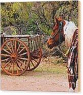 Cowboy Up Wood Print