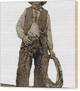 Cowboy With Woolies Cowboy Hat 1900 Wood Print