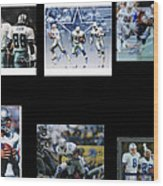 Cowboys Triple Threat  Autographed Reprint Wood Print