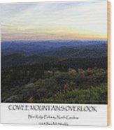Cowee Mountains Overlook Wood Print