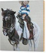 Cowgirl Dee Wood Print