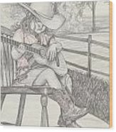Cowgirl Melody Wood Print