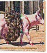 Cow Parade N Y C 2000 - Prima Cowlerina Wood Print