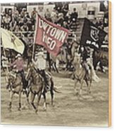 Cowtown Grand Entry Wood Print