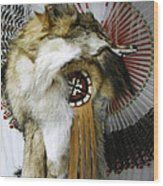 Coyote Headdress 1 Wood Print