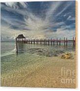 Cozumel Beach Paradise Wood Print