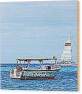 Cozumel Excursion Boats Wood Print
