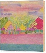 Cozumel Kaleidoscope Wood Print