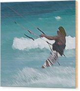 Cozumel Kiting Wood Print