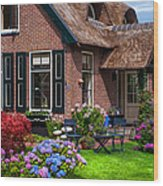 Cozy Corner. Giethoorn. Netherlands Wood Print