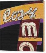 Cozy Mo - Black Wood Print