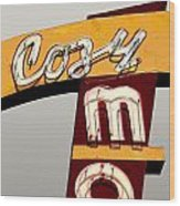 Cozy Mo - Gray Wood Print