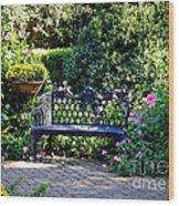 Cozy Southern Garden Bench Wood Print