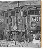 Cp Rail Train Bwtr9099-12 Wood Print