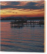 Crab Alley Sunset Wood Print