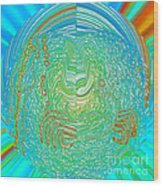 Crab In Plastic Wrap Abstract Wood Print