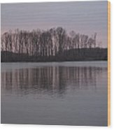 Crab Orchard Lake At Peace - 3 Wood Print by Frank Chipasula