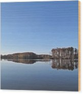 Crab Orchard Lake's Blue Mood Wood Print by Frank Chipasula