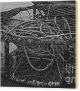 Crab Pot Wood Print