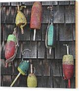 Crab Pot Floats Wood Print
