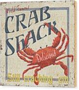 Crab Shack Wood Print