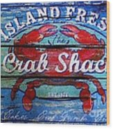 Crab Shack Wood Print