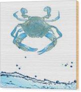 Crab Strolling Around Wood Print