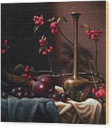 Crabapple Blossoms Wood Print by Timothy Jones