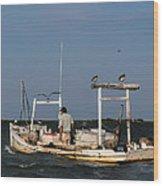 Crabbing Smith Island Md Wood Print