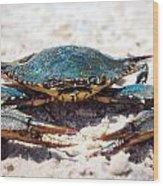 Crabby Crab Wood Print