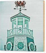 Crabby Weathervane Wood Print
