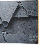 Cracked Asphalt Macro Wood Print